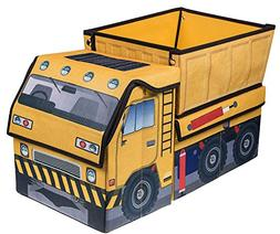 Kid's Construction Dump Truck Collapsible Toy Organizer by C