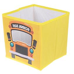 School Bus Collapsible Storage Organizer by Clever Creations
