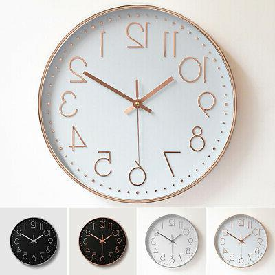 "12"" Analog Clock Quartz Office Non-Ticking"