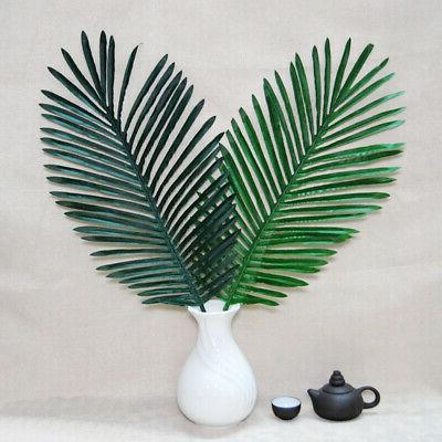 12Pcs Artificial Tropical Leaves Office Decor USA