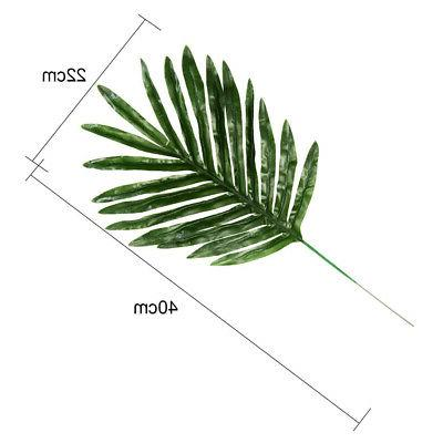 12Pcs Artificial Tropical Leaves