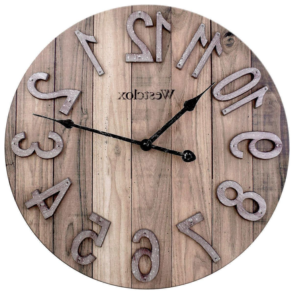 "Westclox 15.5"" Farmhouse Wall Clock Home Office Decor Wood F"
