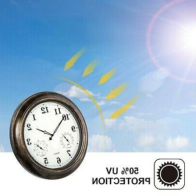 SkyNature 18 Outdoor Clock with Temperature and