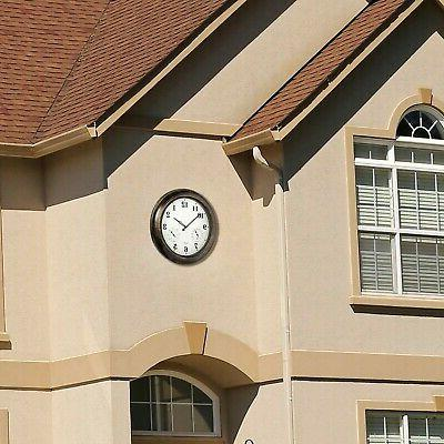 Outdoor Wall Clock with Temperature