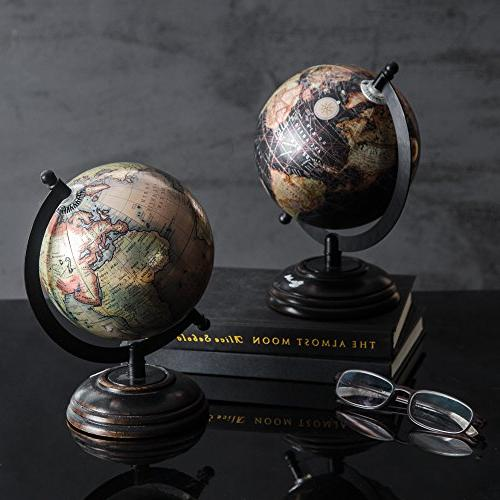 2 Glossy Globes with for Décor Office Diameter by Gift