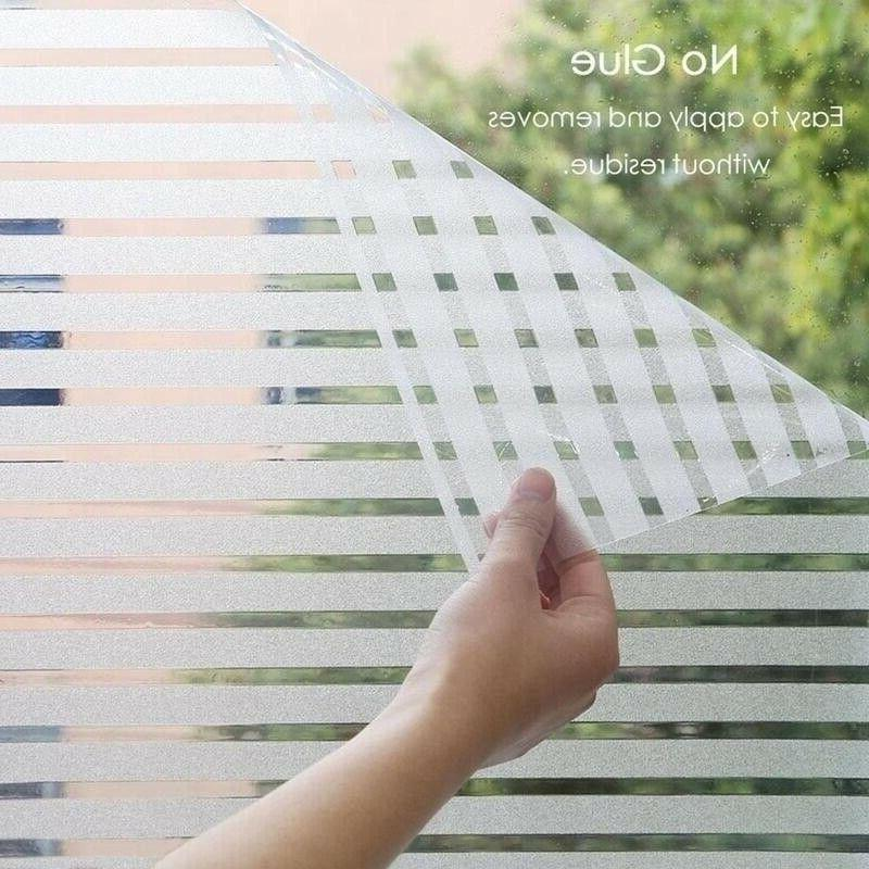 2m frosted glass film static cling window