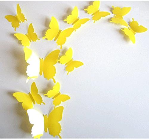 3d butterfly removable wall decals