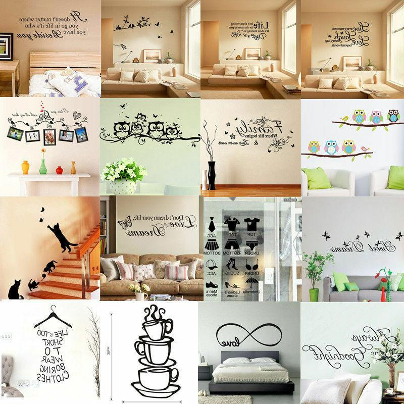 3D Office Decor Art Word Wall Decal Stickers Removable DIY