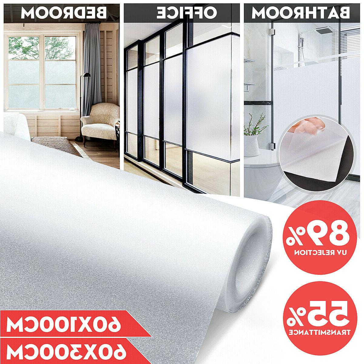 3Meters Home Office Window Film Frosted Glass Privacy Sticke