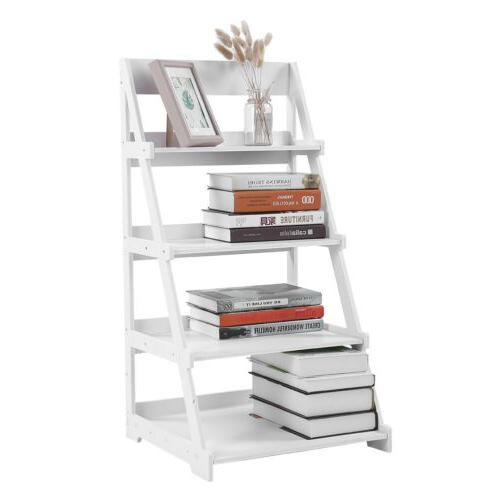 4-Tier Bookcase Leaning Home Office Decor