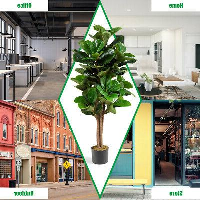 5ft Artificial Fiddle Fig Office Planter