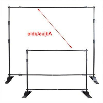 8' 10' Step and Repeat Adjustable Telescopic Trade Backdrop