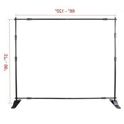 8' 10' Step and Stand Adjustable Show Backdrop