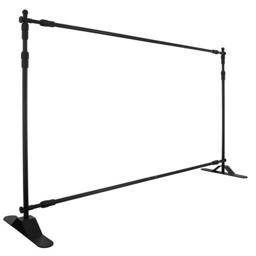 8' Step and Adjustable Telescopic Trade Backdrop