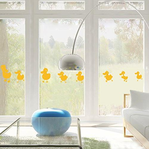 8 yellow duck wall decal