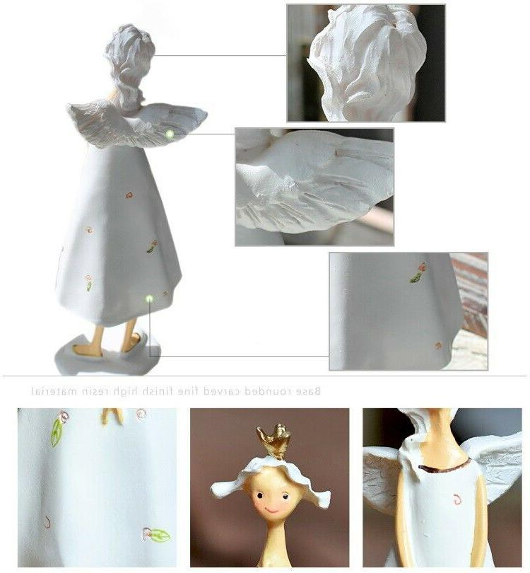 8in Figurines 2Pcs Lucky Angels Girl's Fairy Office