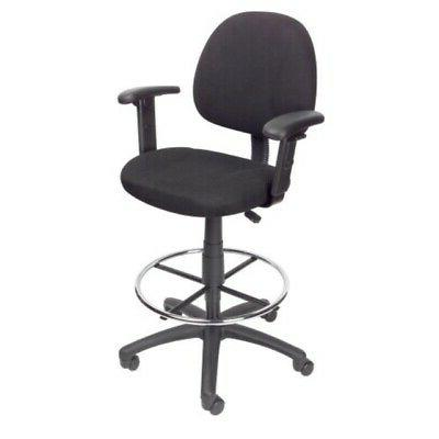 Boss Office Products B1616-BK Ergonomic Works Drafting Chair