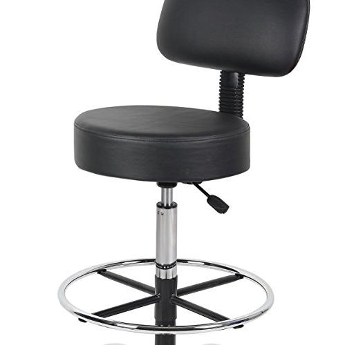 Boss Office Products B16245-BK Be Well Drafting Stool Black