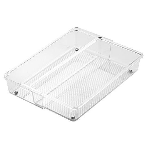 InterDesign Linus Expandable Kitchen Drawer Organizer for Si