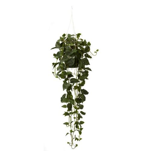 Nearly Natural 4762 Philodendron Hanging Basket Decorative S