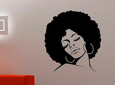 african woman wall decal glamour girl face