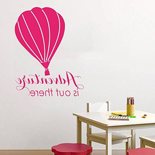 air balloon wall decal quote