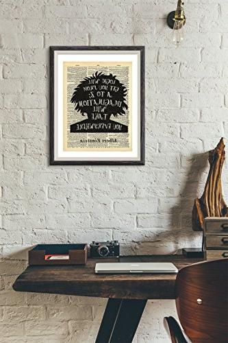 Albert Imagination Vintage Print 8x10 Home Vintage Art Wall Decor Wall For Living Room Office Ready-to-Frame