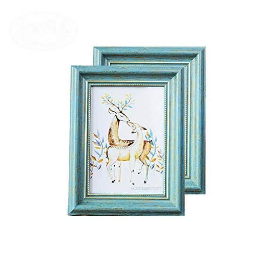 antique teal picture frames finish
