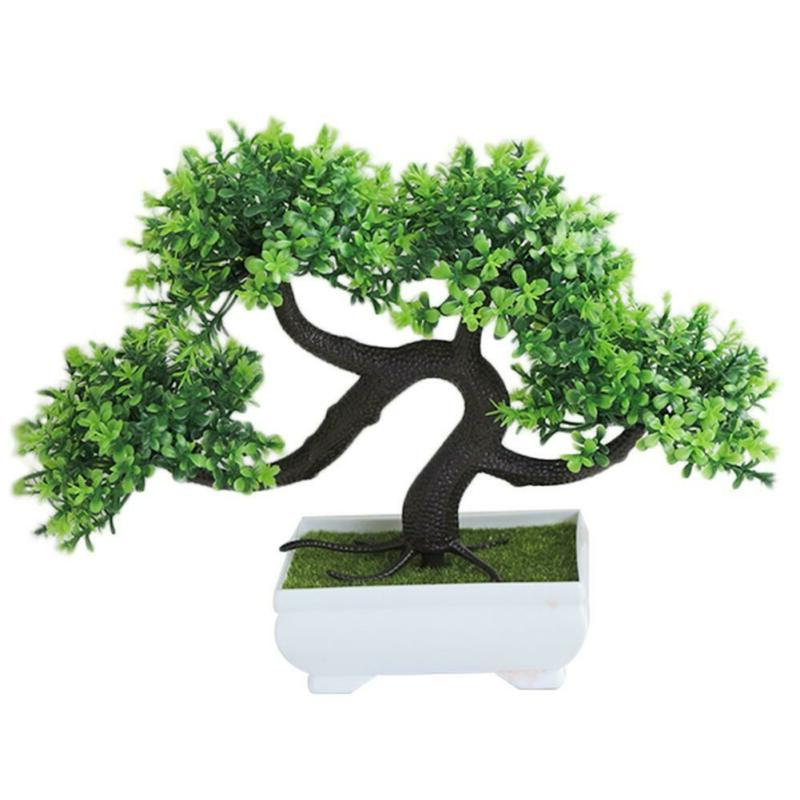 Artificial Bonsai Mini Tree Greeting Home Office