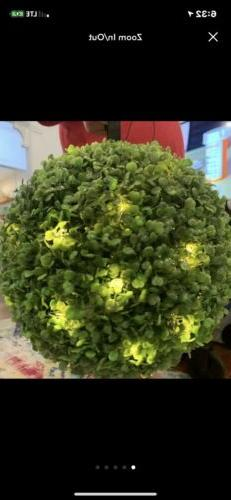artificial boxwood topiary faux lighted ball house