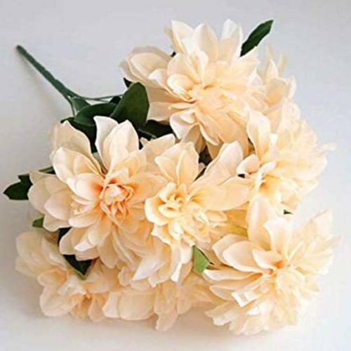 Artificial Dahlia Flower Faux Flower 10Heads For Wedding Par
