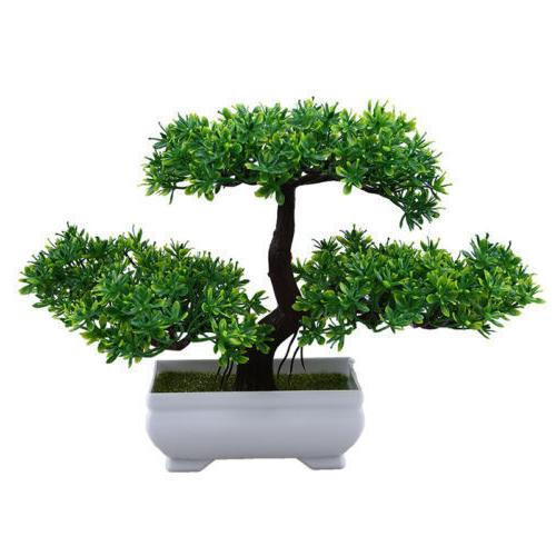 Artificial Fake Bonsai Plant Greeting Tree Office