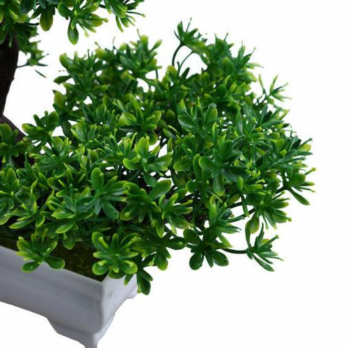 Artificial Fake Green Bonsai Plant Guest Pine Tree Wedding Office