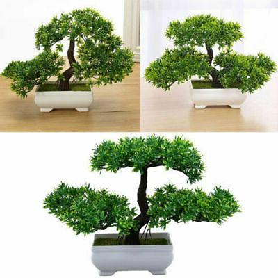 artificial fake green bonsai plant guest greeting