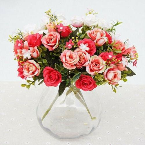 Artificial Fake Flower Bouquet Bridal Wedding Home Party office