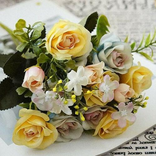 Artificial Fake Roses Flower Bridal Home Party