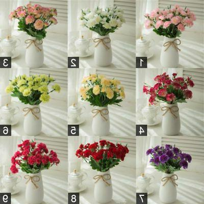 Artificial Fake 10 Head Bouquets Floral Home Office Decor