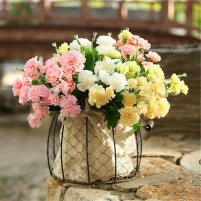 artificial fake silk flowers 10 head carnation