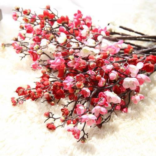 Artificial Fake Flowers Cherry Plum Party Office