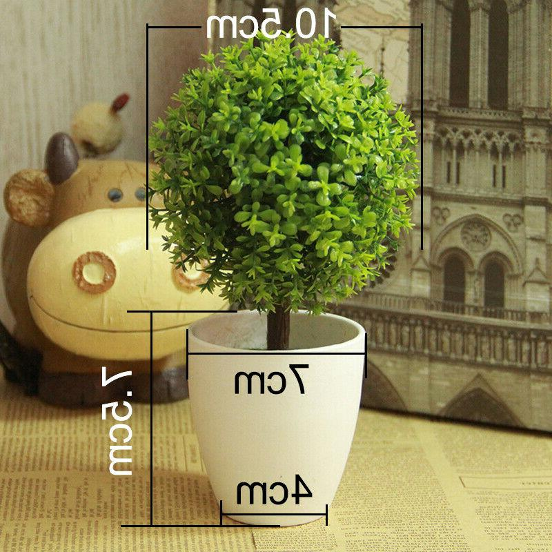 Artificial Flower Tree Ball Plants Home Office Desk Decor