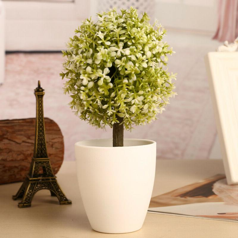 Artificial Flower Topiary Ball Home Desk