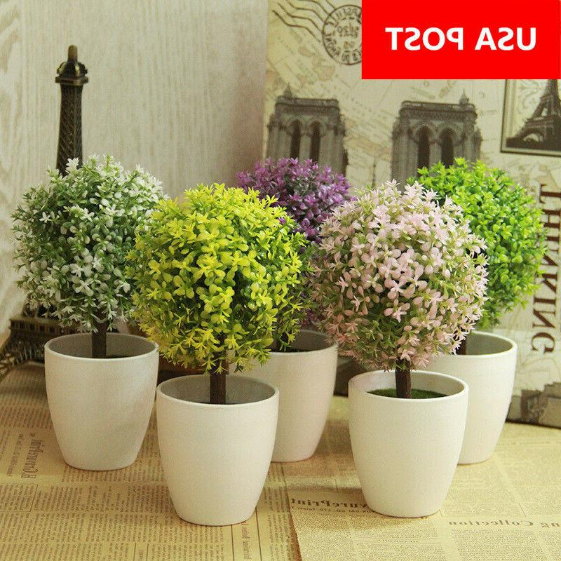 artificial flower topiary tree ball plants bonsai