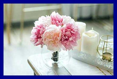 Artificial Flowers Glass For