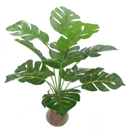 artificial monstera tree fake plant pot indoor