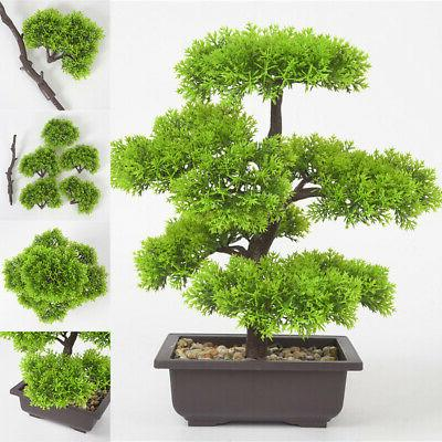 Simulation Bonsai Plant Indoor Flower Potted Home Office Des
