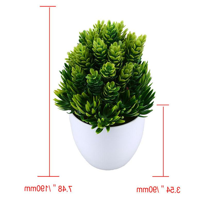 Artificial Potted Plant Plastic Flowers Home