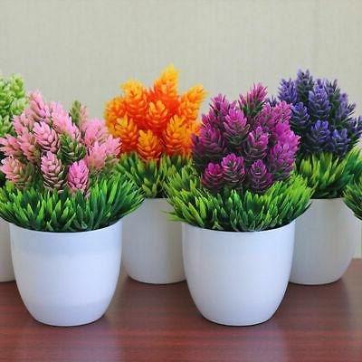 artificial potted plant fake plastic flowers office