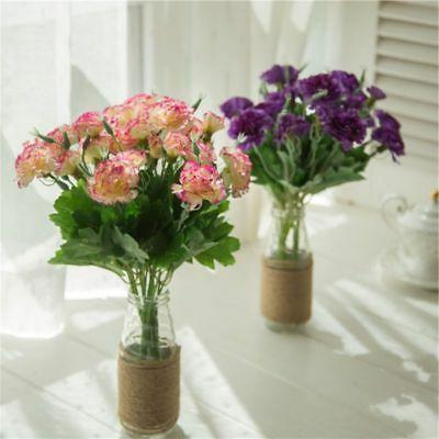 Artificial Flowers 10 Carnation Bouquets Floral Home