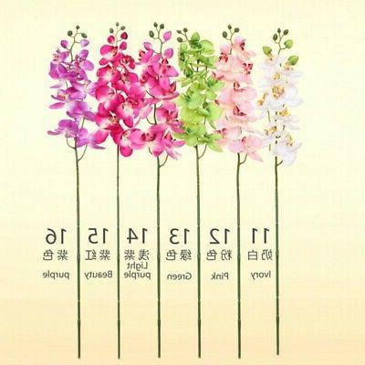 Artificial Silk Phalaenopsis Flowers Heads Bouquet Home Office