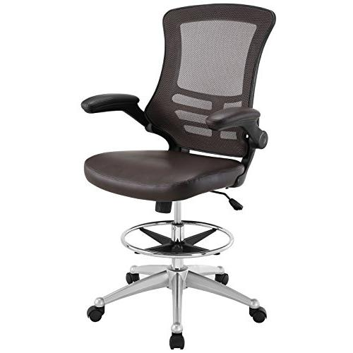 attainment drafting stool brown